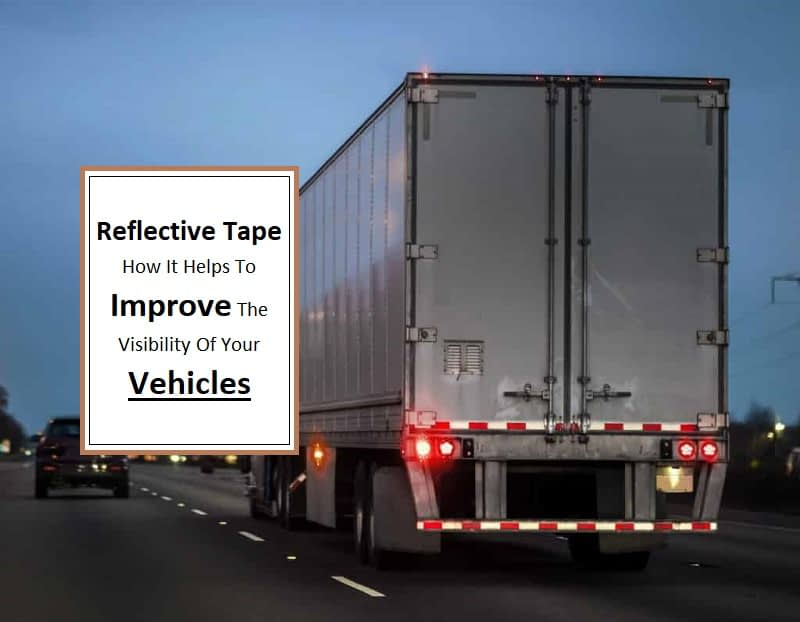 reflective tape on vehicles
